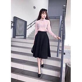 Chân váy xòe dáng dài xinh xắn