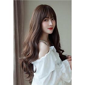 KÈM LƯỚI VÀ LƯỢC. Tóc giả nữ nguyên đầu dài, tóc giả nguyên đầu, giống tóc thật 100%, có rãnh da đầu, chất tơ cao cấp, chịu nhiệt tốt, bấm, uốn, duỗi, gội thoải mái.