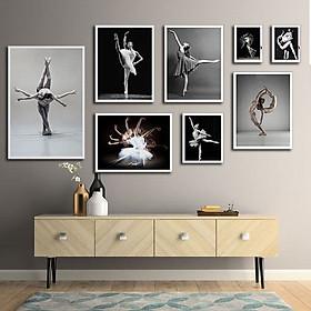 Bộ 8 tranh phòng múa bale, múa ballet MS0811