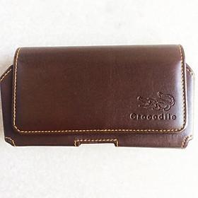 Bao da túi đeo hông thắt lưng nằm ngang 2 ngăn cho điện thoại 5 inch, 5.2 inch, 5.5 inch, 6 inch, 6.3 inch