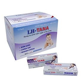 combo 12 que thử rụng trứng L-H Tana +06 que thử thai Quicktana