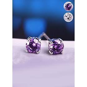 Bông tai kim cương bạc 925 BHBT91-New