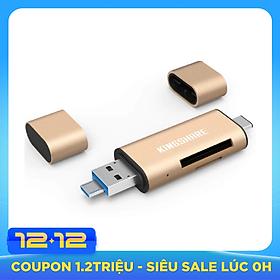 Đầu đọc thẻ nhớ SD Reader/Type C/USB 3.0/Micro USB Kingshare - Màu ngẫu nhiên - Hàng Nhập Khẩu