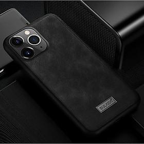 Ốp Lưng Da SULADA Viền silicon cho iPhone 11 Pro Max - Hàng Chính Hãng