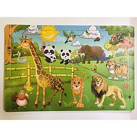 Combo 02 tranh ghép hình 200 mảnh bằng gỗ an toàn cho bé BK107