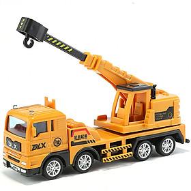 Xe đồ chơi mô hình xe cần cẩu cứu hộ DLX  chất liệu nhựa an toàn cho bé, tỷ lệ lớn (hàng nhập khẩu)