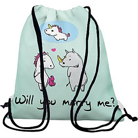 Balo Dây Rút Unisex In Hình Will You Marry Me? - BDFU391
