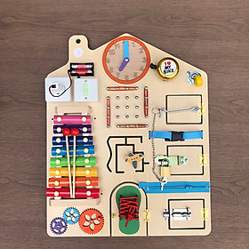 Sensory board, Busy board-Đồ chơi theo phương pháp giáo dục sớm từ 1 đến 3 tuổi