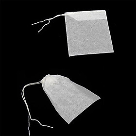 100PCS 5.5 x 7 cm Non-woven Draw String Teabags Sealed Filter Tea Bag Herb Pouch