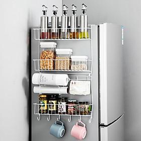 Giá Kệ Treo Bên Tủ Lạnh Maxcook Giá Đựng Gia Vị Khăn Ăn Mcwa231