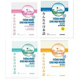 Combo Sách Học Tiếng Nhật Trình Độ Sơ Cấp 2: Tiếng Nhật Cho Mọi Người: Trình Độ Sơ Cấp 2 – Hán Tự (Bản Tiếng Việt) + Tiếng Nhật Cho Mọi Người - Sơ Cấp 2 - Bản Dịch Và Giải Thích Ngữ Pháp - Tiếng Việt + Tiếng Nhật Cho Mọi Người - Sơ Cấp 2 - Bản Tiếng Nhật (Bản Mới) +  Tiếng Nhật Cho Mọi Người - Trình Độ Sơ Cấp 2 - Tổng Hợp Các Bài Tập Chủ Điểm (Bản Mới) ( Tặng Kèm Bookmark Green Life)