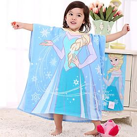 Khăn Tắm Choàng Hoạt Hình Có Mũ Cho Bé Disney (60X120cm)