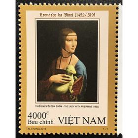 Tem Sưu Tầm Việt Nam 2019 Leonardo da Vinci (1452-1519) - 1 Stamps
