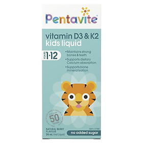 Pentavite Vitamin D3 & K2 Kids Liquid 30ml
