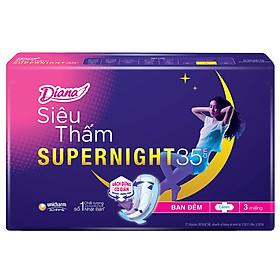 Combo 6 Băng Vệ Sinh Diana Super Night 35cm (Gói 3 Miếng)