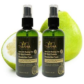 Combo 2 Chai xịt tinh dầu bưởi kích mọc tóc, giảm rụng tóc Pomelo Tabaha 120ml cho tóc dày và dài hơn gấp 2 đến 3 lần