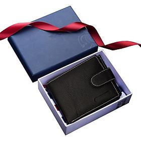 Ví , bóp nam da thật 100% có khóa kéo,  có hộp  làm quà tặng