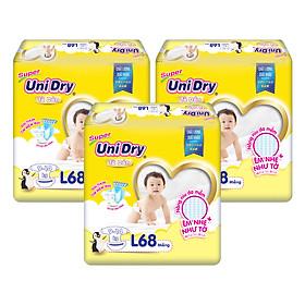Combo 3 Tã Dán Cho Bé UniDry (G6+) size L68 (68 Miếng)-0