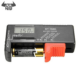 DANIU BT-168D Universal AA/AAA/C/D/9V/1.5V LCD Display B attery Tester Button Cell Volt Checker -Black