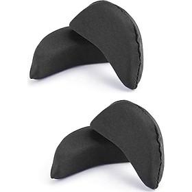 Combo 2 bộ miếng mút lót mũi giày êm chân - Màu Đen (2 miếng mút / bộ)
