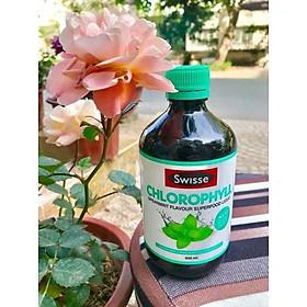 Nước diệp lục hỗ trợ thanh lọc, thải độc cơ thể Swisse Chlorophyll Spearmint Flavour Liquid (500ml) - Nhập khẩu Australia