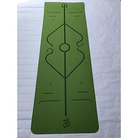Thảm yoga định tuyến 8mm TPE(kèm túi đựng+dây buộc thảm )-Hoa văn ngẫu nhiên