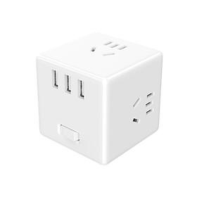 Ổ cắm điện xiaomi mija cube 2 trong 1 6 cổng sạc usb - Hàng nhập khẩu