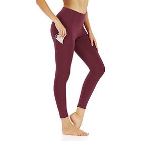 Women Yoga Leggings with Pockets High Waist Tight Sport Pants Fitness Gym Workout Running Pants