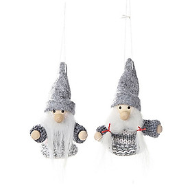 2Pcs Santa Claus Snowman Elk Dolls Christmas Ornaments Merry Christmas Favor Party Decorations for Home New Year Gift