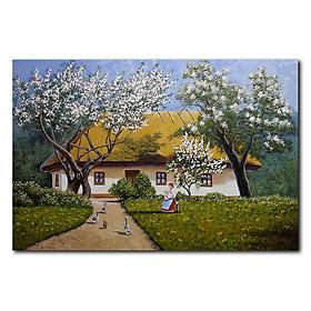 Tranh Canvas Suemall Trang Trí Phòng Khách Vùng Quê Tây Âu CV190311