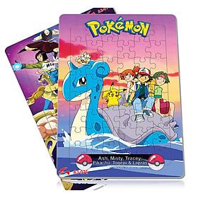 Bộ 2 tấm xếp hình A3 (48 mảnh ghép): tranh ghép hình Pokemon và 7 Viên ngọc rồng. Tia Sáng Việt Nam. Đồ Chơi trí tuệ cho bé từ 3 tuổi. Chứng nhận chất lượng: Xếp hình lên đến 250 mảnh ghép.