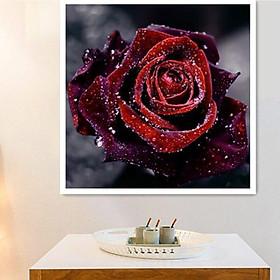 5D Diamond Painting Living Room Full Diamond Rose Paste Diamond Painting