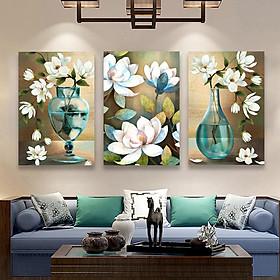 Set 3 tranh Canvas Bình Hoa 40x60 cm