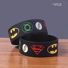 Superhero Wristbands Batman Superman Superheroes Logos Silicone Wristbands