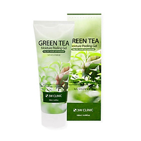 Gel tẩy da chết mặt 3W Clinic Moisture Peeling Gel - Green Tea 180ml