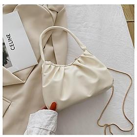 Túi hình chữ nhật hoạ tiết nếp gấp bánh bèo thanh lịch, túi xách và có quai đeo chéo