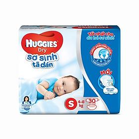 Tã dán sơ sinh Huggies mới size S gói 30 miếng
