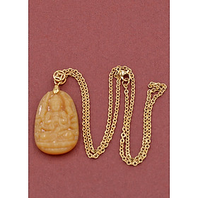 Hình đại diện sản phẩm Vòng cổ Thiên Thủ Thiên Nhãn thạch anh vàng 3.6 cm DIVTVB8 - Phật bản mệnh cho người tuổi Tý