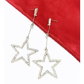 Bông tai nữ thời trang ngôi sao đính đá