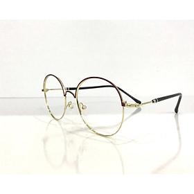Kính gọng kim loại thời trang dáng tròn Nobita 55715