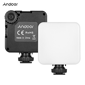 Andoer KM-72A Mini Dimmable RGB LED Video Light 6W Color Fill Light Built-in 2000mAh Battery with Tripod Cold Shoe
