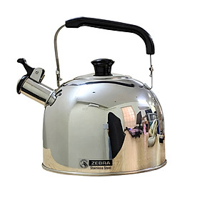 Ấm đun nước 3,5 lít, có còi, bằng Inox, chính hãng Zebra (Smart - 113524)