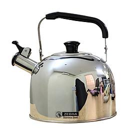Ấm đun nước 5 lít, có còi, bằng Inox, chính hãng Zebra (Smart - 113528)