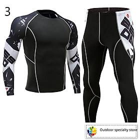 Set quần áo ôm thể thao thấm hút mồ hôi nhanh dành cho nam