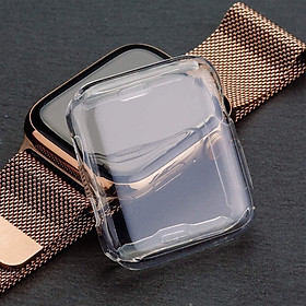 Ultra-thin Soft TPU Transparent Protector Case for Apple Watch Series 4 44mm 40mm