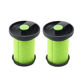 2pcs Vacuum Cleaner Replacement Filter Element for Gtech Multi Mk2 Vacuum Cleaner Parts Green