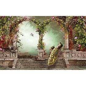 Tranh cửa sổ 3d| Tranh dán tường cửa sổ phong cảnh 3d 5