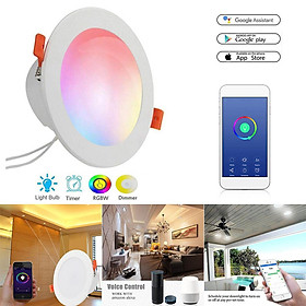 LED Wifi Smart Downlight 85- 265V 12W Work with Alexa Google Home Voice Control