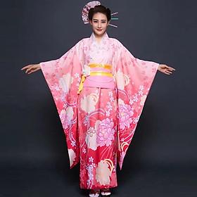 Trang Phục Kimono Nữ Truyền Thống Nhật Bản Cao Cấp Phù Hợp Với Các Chương Trình Giao Lưu Văn Hóa Quốc Tế, Sự Kiện, Khai Trương