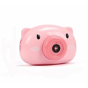 Máy chụp ảnh bắn bong bóng hình heo hồng dễ thương